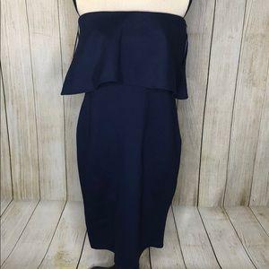 Gianni Bini Kara Navy Blue Popover Dress